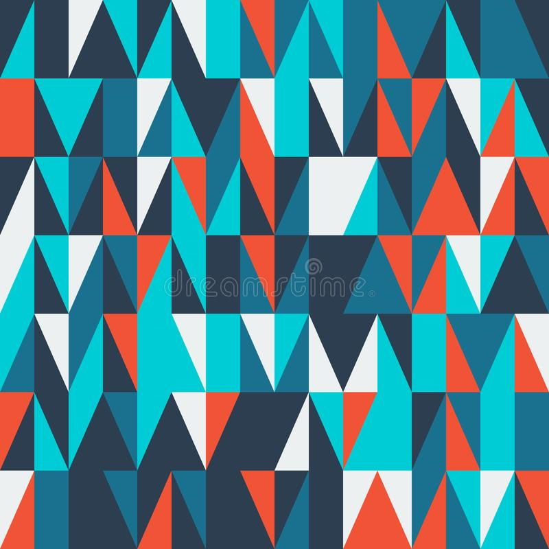Couverture géométrique abstraite moderne Conception à la mode colorée minimale de calibres illustration libre de droits