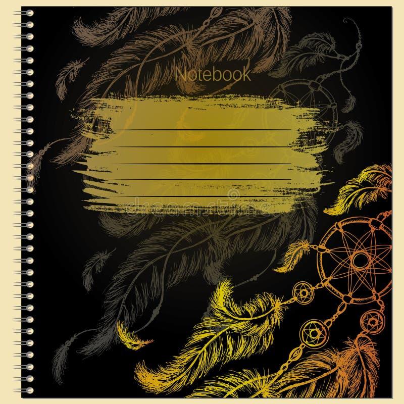 Couverture pour le carnet avec Dreamcatcher illustration stock