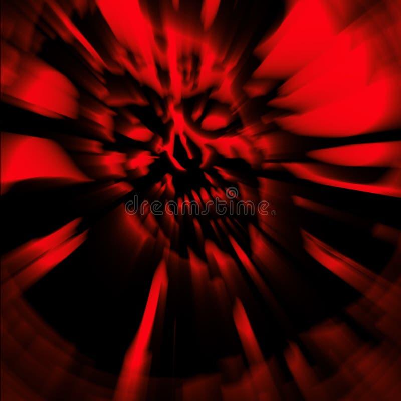 Couverture terrible de tête morte de zombi tête Papier peint en rouge illustration stock