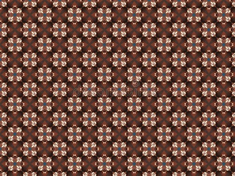 Couverture tricotée volumineuse d'ouatine avec un modèle illustration de vecteur
