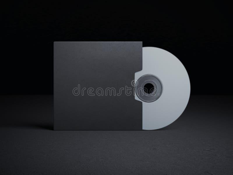 Couverture vide de disque compact illustration libre de droits