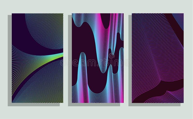 Couvertures de Minimalistic Gradients tramés illustration de vecteur