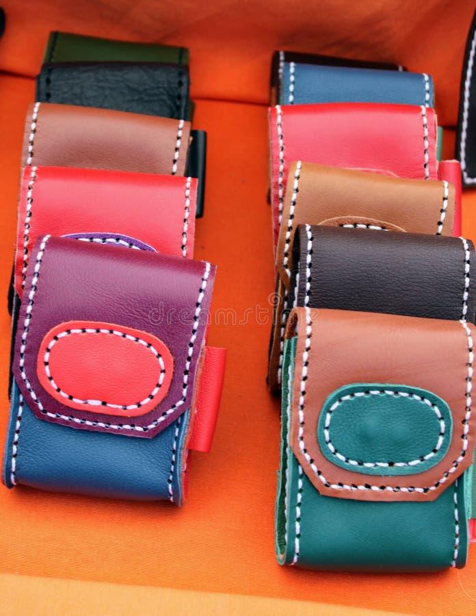 Couvertures en cuir pour le téléphone portable photographie stock