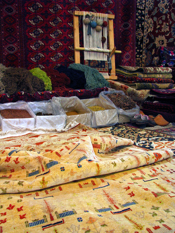 Couvertures orientales de Boukhara - effectuer traditionnel de photographie stock libre de droits