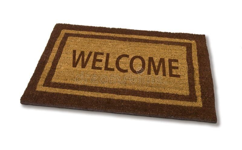 Couvre-tapis bienvenu image stock
