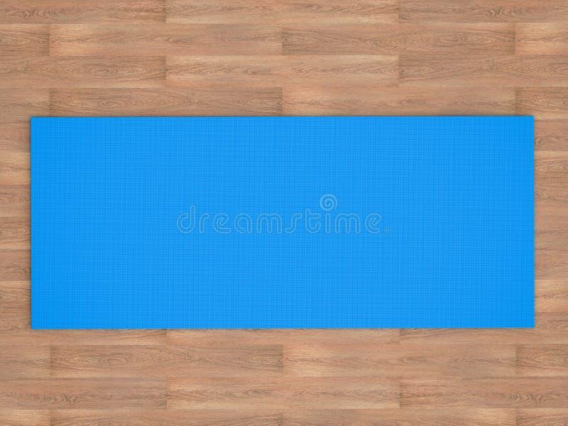 Couvre-tapis bleu de yoga image libre de droits