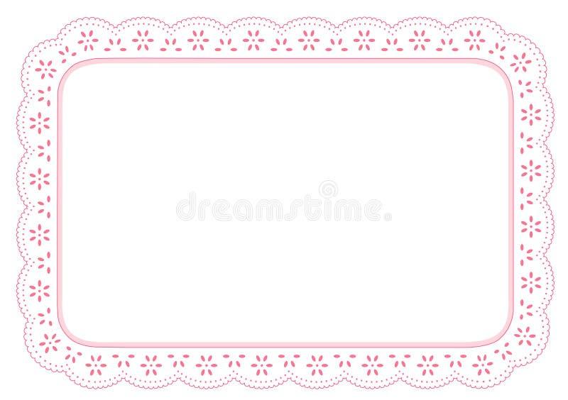 couvre-tapis de place de lacet de +EPS PinkEyelet illustration libre de droits