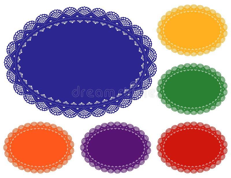 Couvre-tapis de place de napperon de lacet illustration de vecteur
