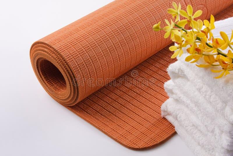 Couvre-tapis de yoga image stock