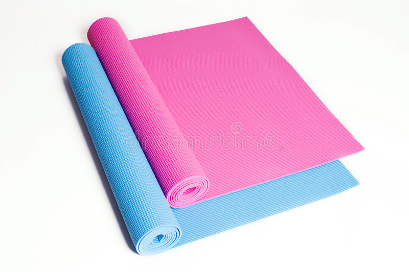 Couvre-tapis de yoga photographie stock