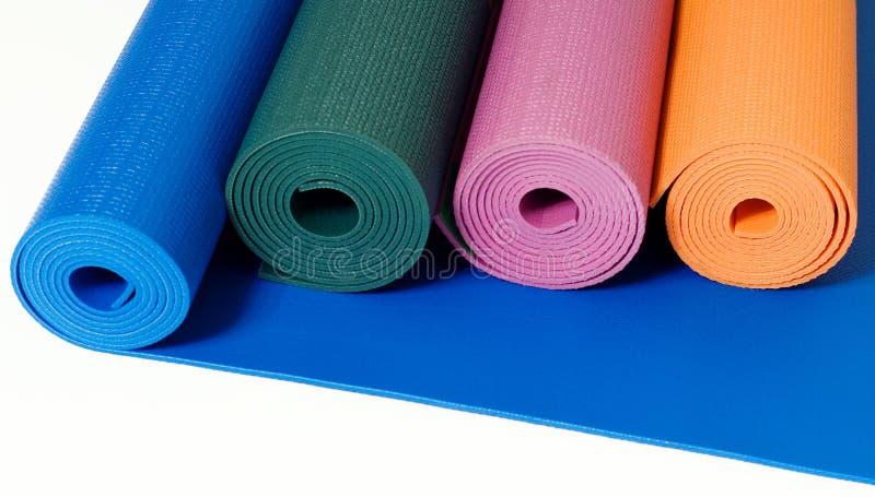 Couvre-tapis de yoga photographie stock libre de droits