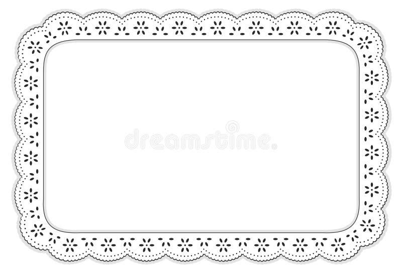couvre-tapis noir et blanc de +EPS d'oeillet de lacet de place illustration libre de droits