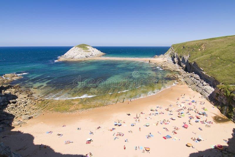 Covachos,西班牙海滩  库存照片