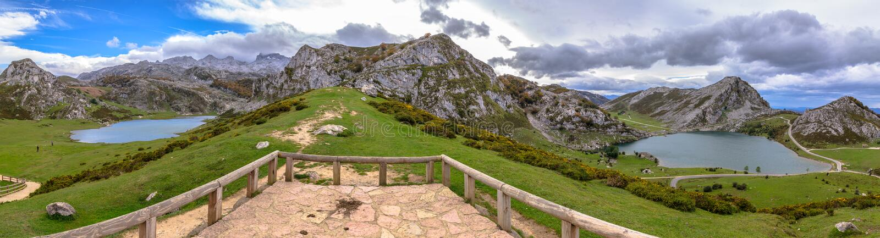 Covadonga湖 免版税库存图片