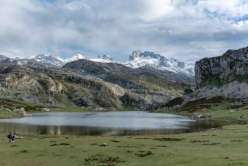 Covadonga Lakes in Picos de Europa National Park, Asturias, Spain. Covadonga Lakes in Picos de Europa National Park, Asturias, Spain royalty free stock photography