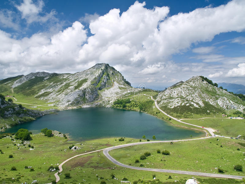 Covadonga Lakes, Spain Royalty Free Stock Photography