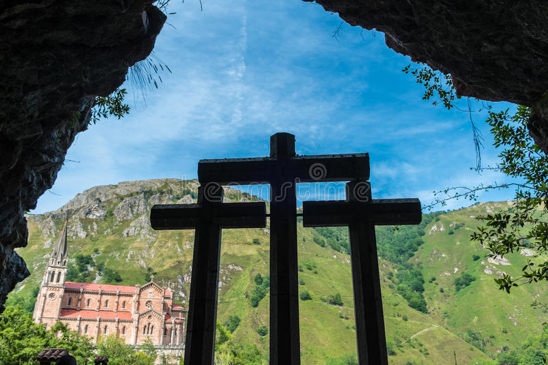 Covadonga stock images