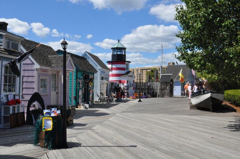 Cove de capitán en Bridgeport, Connecticut fotografía de archivo