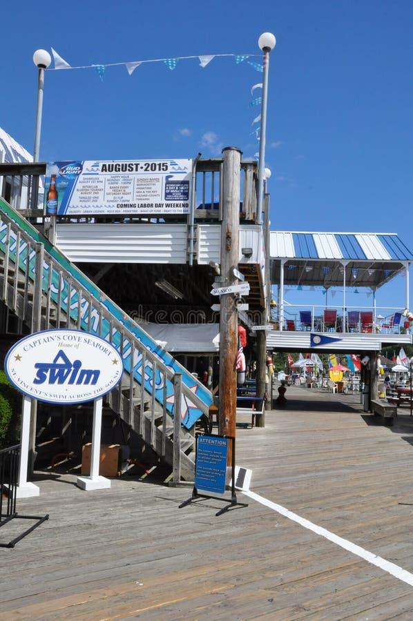 Cove de capitaine à Bridgeport, le Connecticut photographie stock libre de droits