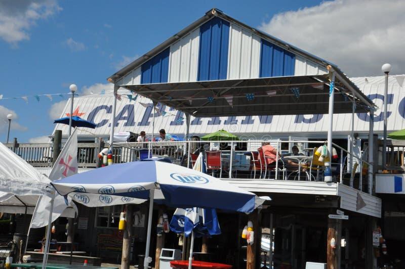 Cove de capitaine à Bridgeport, le Connecticut images stock