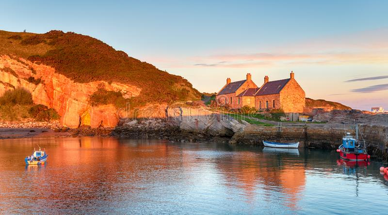 Cove harbour in Scotland royalty free stock image