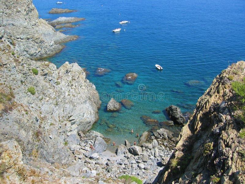 Download Cove in Vermilion Coast stock photo. Image of tourist - 17095488