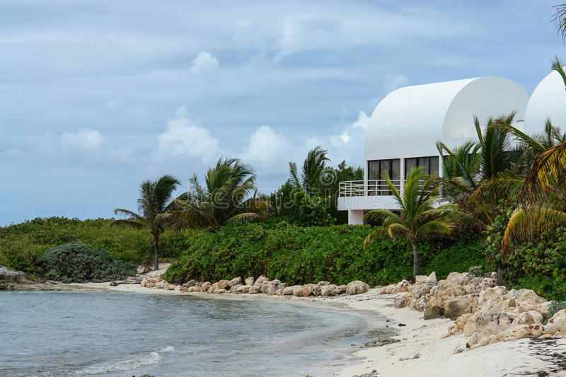 Covecastles villa on beach, Shoal Bay West, Anguilla, British West Indies, BWI, Caribbean stock photography