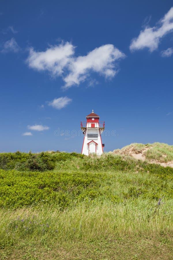 Covehead-Hafen-Leuchtturm auf Prinzen Edward Island stockbilder