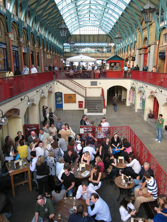 covent庭院伦敦市场 免版税库存图片