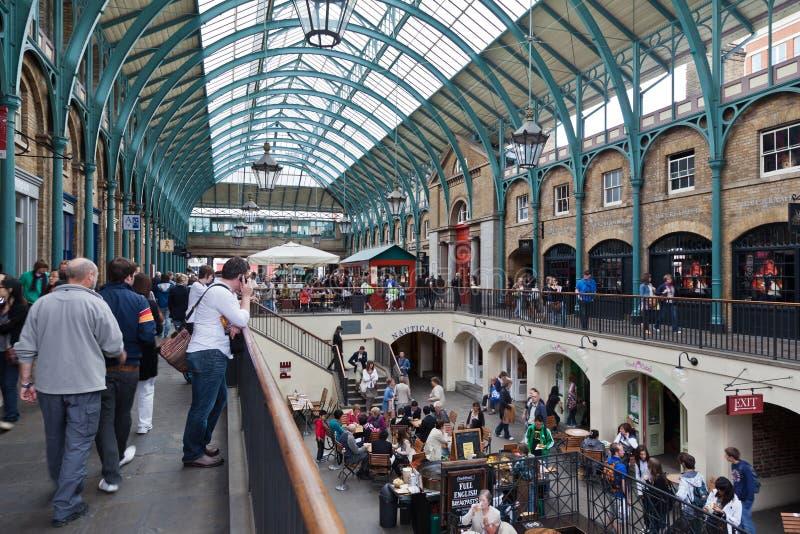 covent庭院伦敦市场 免版税图库摄影