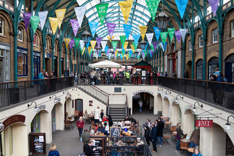 Covent Garden in London stock photography