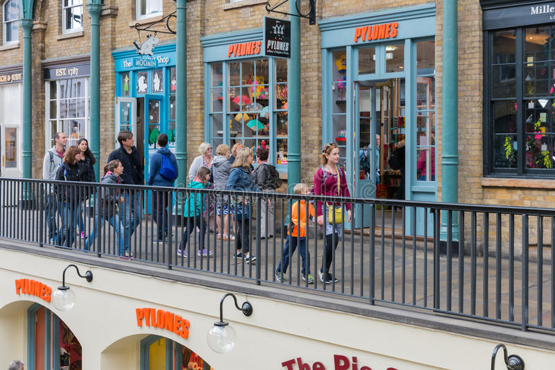 Covent Garden Market, main tourist attraction in London, UK stock photography