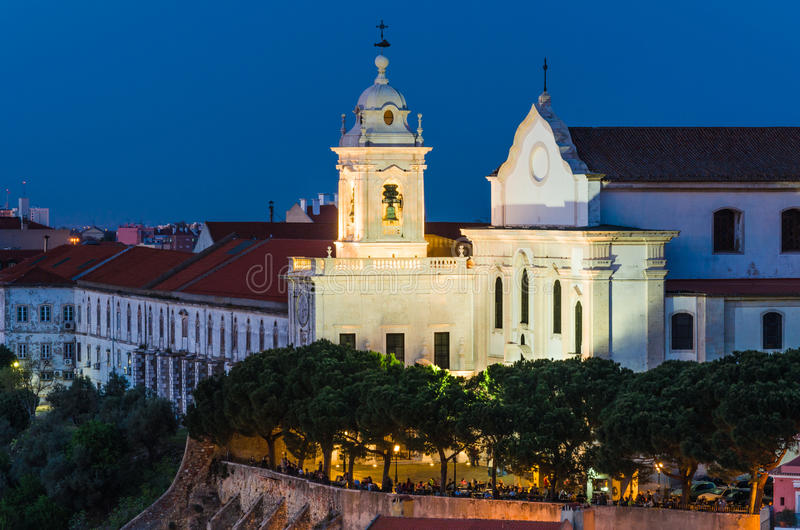 Covent of the Grace in Alfama old downtown of Lisbon, Portugal. royalty free stock photo