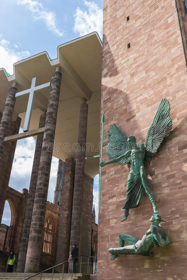 Coventry Cathedral Church Ruins in Coventry UK stock photos