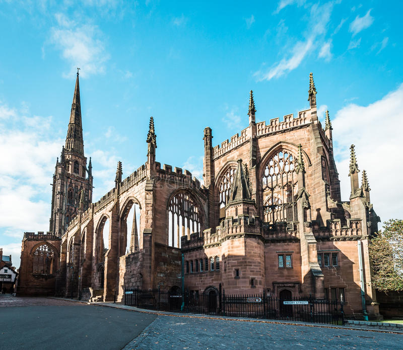 Coventry Cathedral in England, UK stock photo