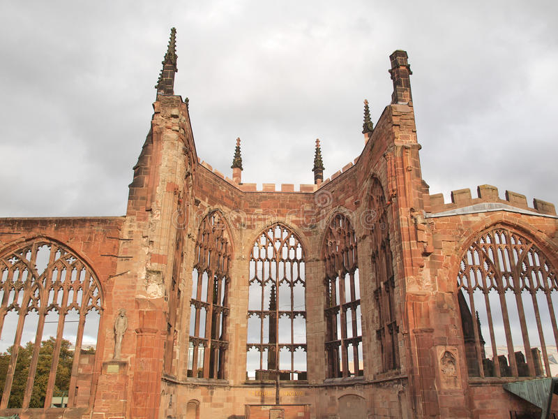 Coventry Cathedral ruins stock photos