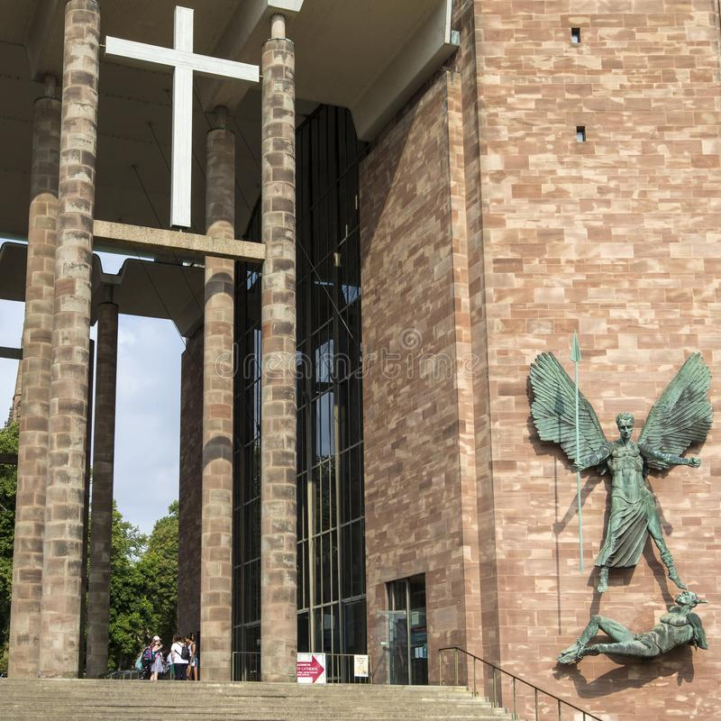 Coventry Cathedral in the UK royalty free stock photography