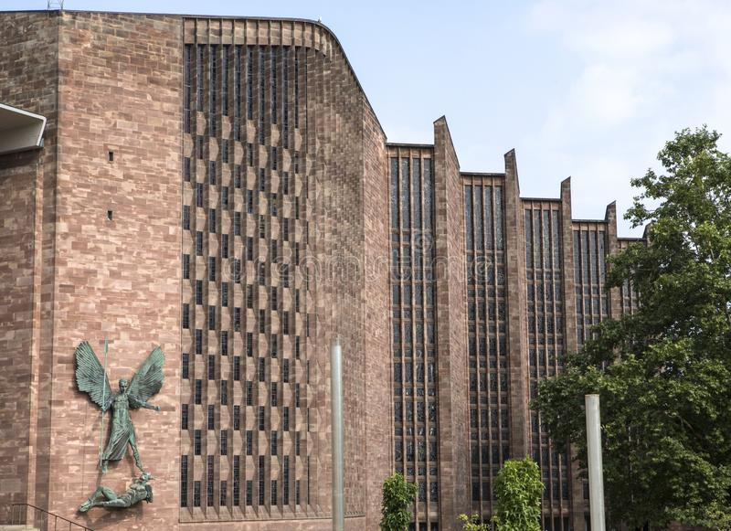 Coventry Cathedral in the UK stock photography