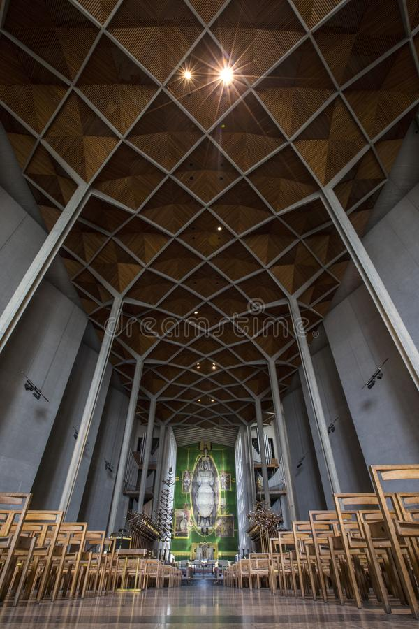 Coventry Cathedral in the UK stock images