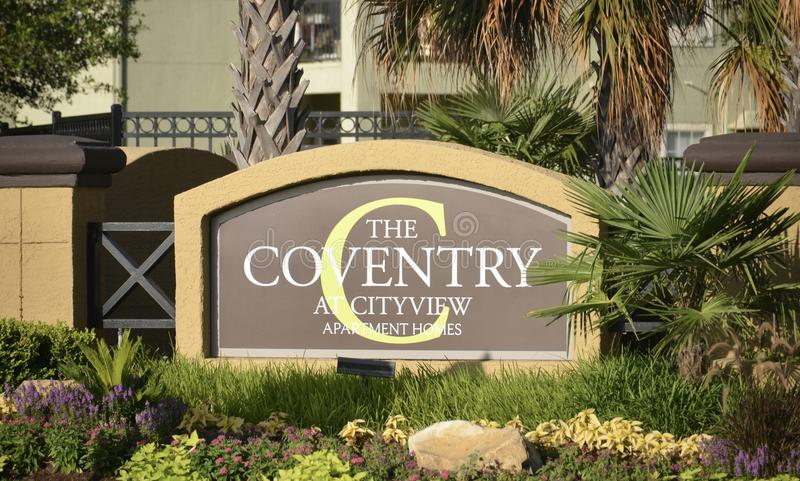 The Coventry at City View, Fort Worth, Texas stock images