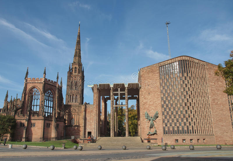Coventry domkyrka royaltyfri fotografi