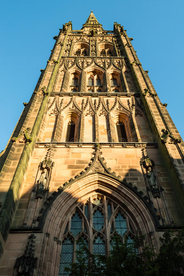 Coventry domkyrka - St Michael Tower A arkivfoto