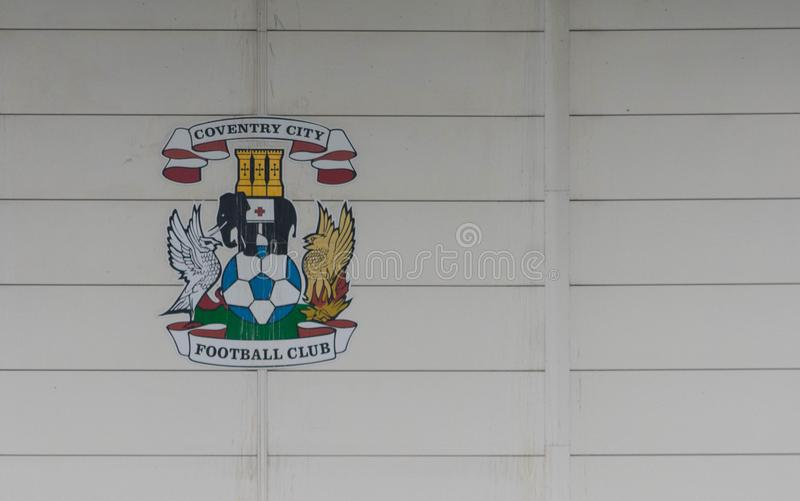 COVENTRY FÖRENADE KUNGARIKET - MAJ 5, 2018 - sikt av Ricoh-arenastadion, Coventry, West Midlands, England, UK royaltyfria bilder