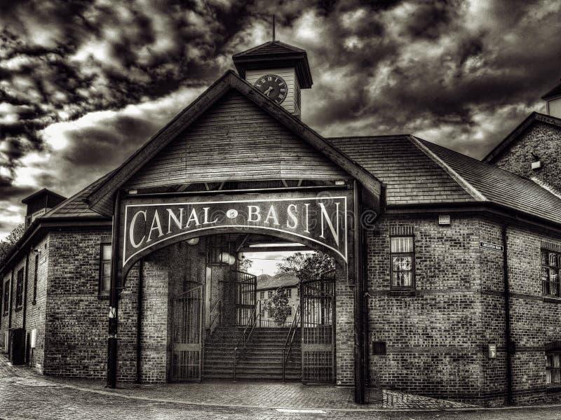 Coventry-Kanal-Becken lizenzfreies stockfoto