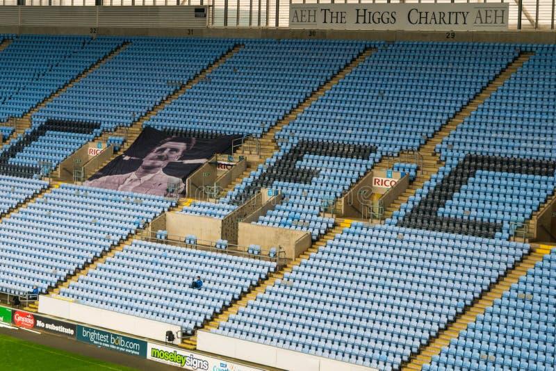 COVENTRY, ROYAUME-UNI - 5 mai 2018 - vue du stade d'arène de Ricoh, Coventry, Midlands de l'Ouest, Angleterre, R-U photos libres de droits