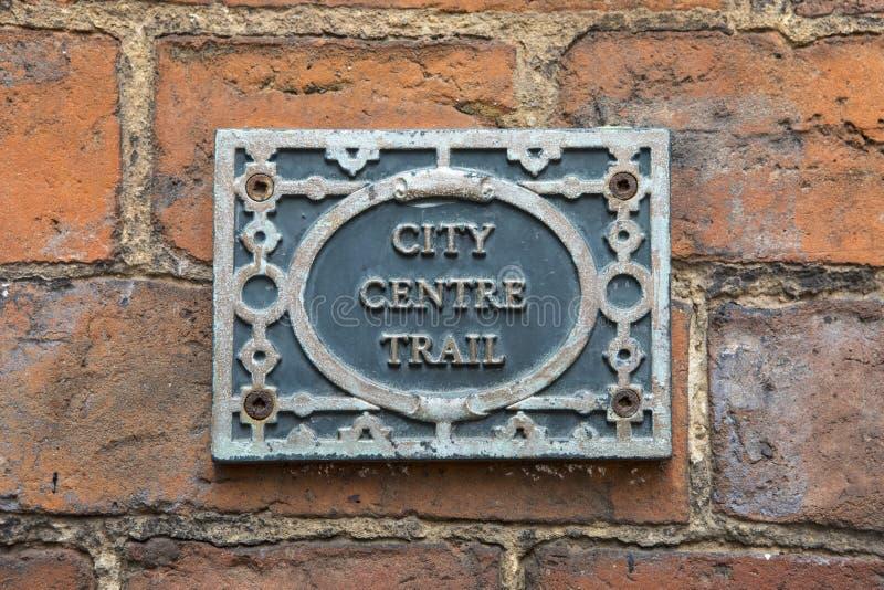 Coventry-Stadtzentrum-Spur lizenzfreies stockfoto