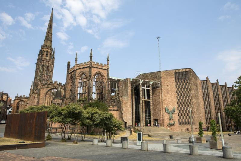 Coventry Cathedral in the UK stock photos