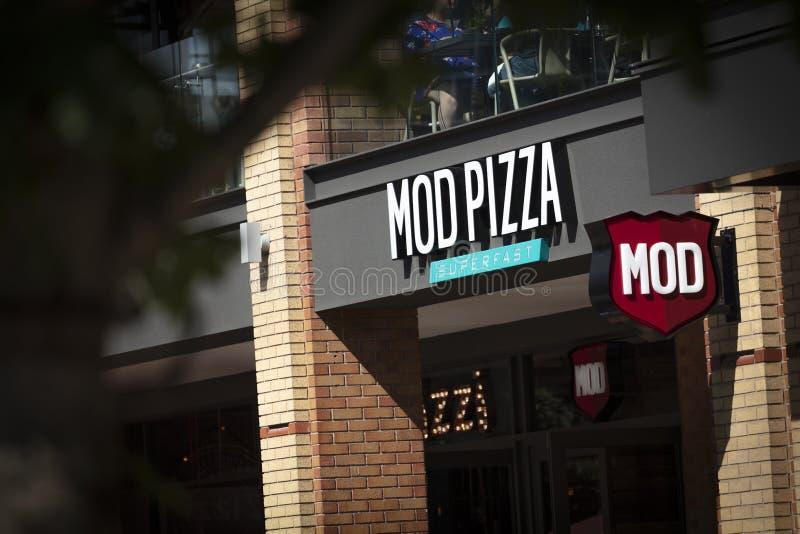 Coventry, Warwickshire, Großbritannien am 27. Juni 2019 ein Zeichen für Umb.-Pizza lizenzfreie stockbilder