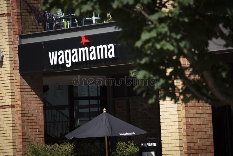 Coventry, Warwickshire, Großbritannien am 27. Juni 2019 ein Zeichen für Wagamama lizenzfreie stockfotografie