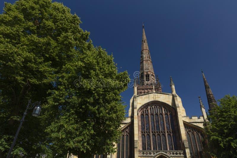 Coventry, Warwickshire, het UK, 27 Juni 2019, Heilige Drievuldigheidskerk royalty-vrije stock afbeelding